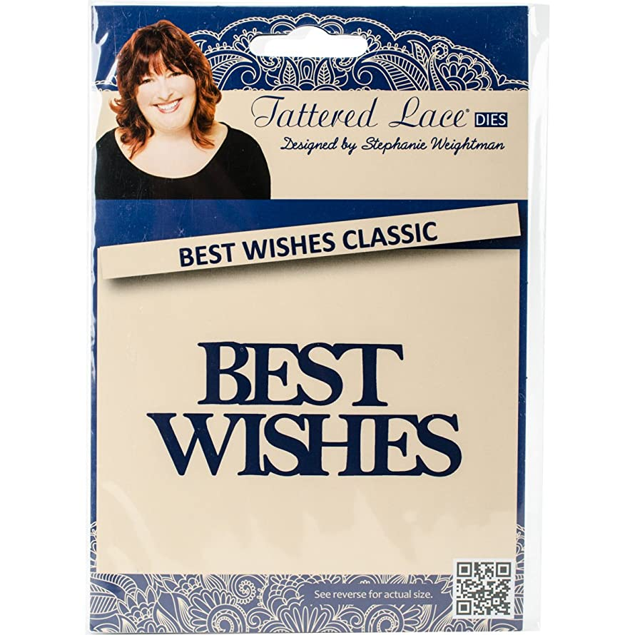 Tattered Lace Metal Die, Best Wishes Classic