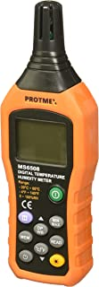 Protmex Digital Temperature Humidity Meter Thermometer Hygrometer Thermometer Hygrometer Monitor with Ambient,Dew Point, W...