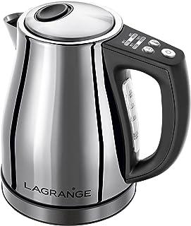 Lagrange 509 010 Bouilloire inox électronique, 1.2L, 2200 W, 1.2 liters, Gris