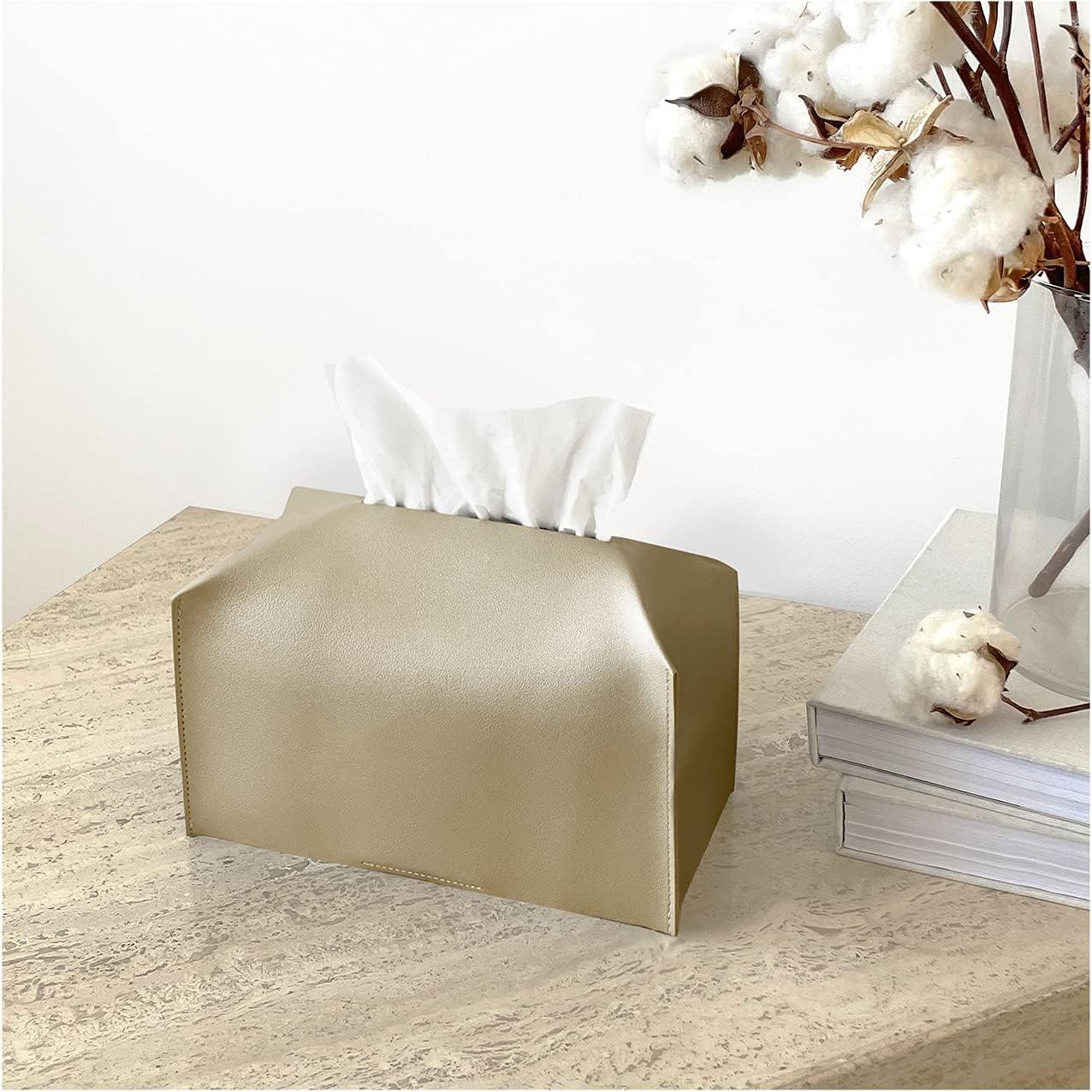 Birdy Co. Luxury Gold Tissue High order Box - Rectangular Holder Cover