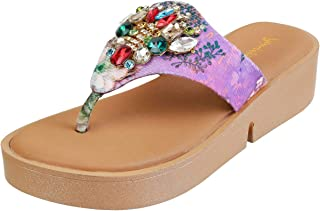 Metro Women Antic Gold Synthetic Sandals (54-3361)