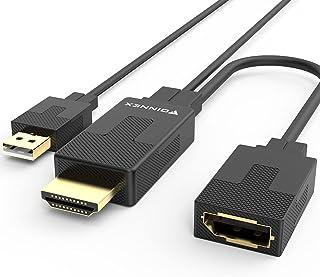 HDMI-naar-DisplayPort-Adapterconverter 4K 60Hz, Actieve HDMI 1.4 Naar DP 1.2 Vrouwelijke Adapter Met Audio, PC Naar Monito...