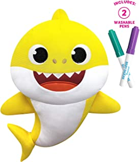 Pinkfong Baby Shark - Doodle Me Doll - Baby Shark - Preschool Plush - by WowWee
