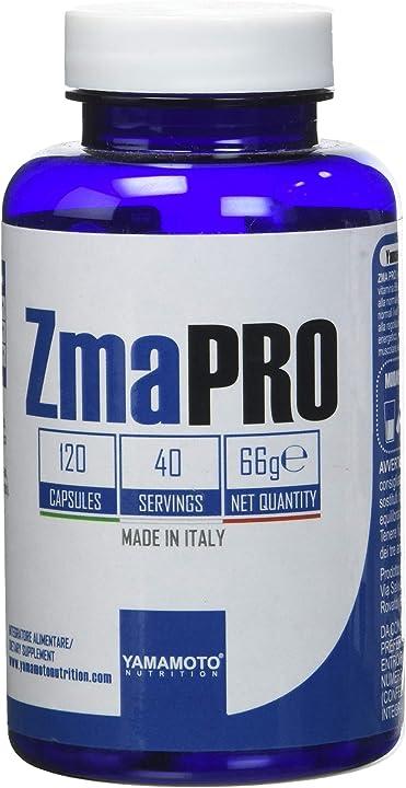 Zma pro integratore alimentare a base di zinco, magnesio e vitamina b6 120 capsule yamamoto nutrition P36321