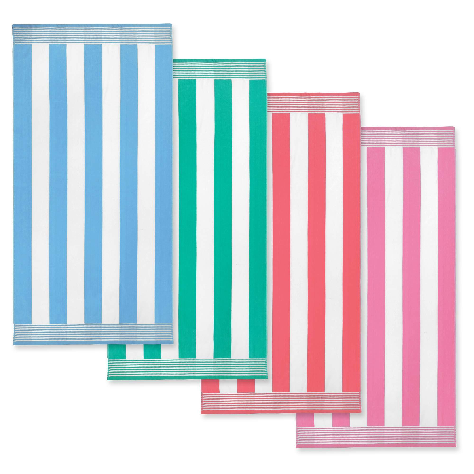 KAUFMAN Velour Cabana Towels 4 Pack