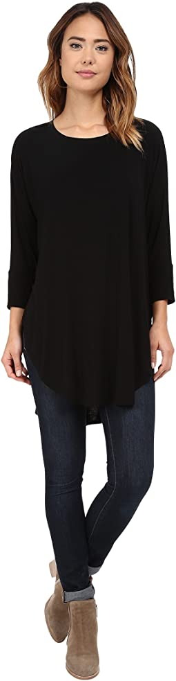 Jersey Lycra 3/4 Sleeve Poncho Tunic