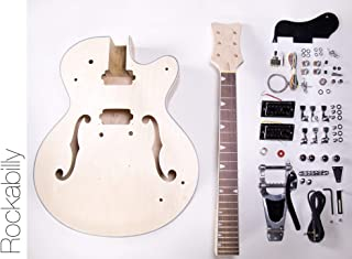 DIY Electric Guitar Kit - Hollow Body Build Your Own Guitar Kit - Rockabilly