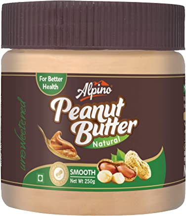 Alpino Natural Peanut Butter, Smooth, 250g