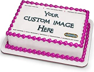 Custom Frosting Sheet for 1/2 Sheet Cake by Tasty Imaginations - Customized Cake Topper