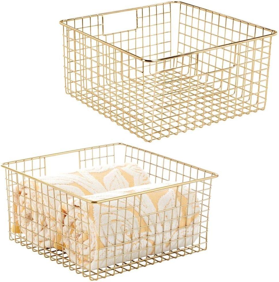 mDesign Farmhouse Decor Metal Wire Organizer Tampa Mall Storage Bathroom Bi High quality