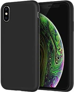 JETech hoesje voor iPhone X, iPhone XS, 5,8 inch, Zijdezachte Full-body Beschermhoes, Schokbestendige Case met Microvezel ...