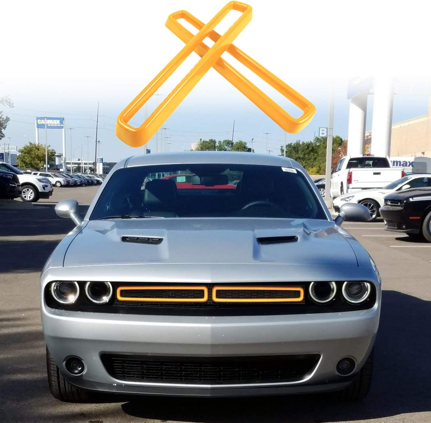 Bonbo Front Grill Grille Inserts Attention brand Cover Max 89% OFF Trim Kit 2015-202 fit for