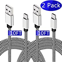 USB C Charger Cable,Long Charging Cable for Galaxy A50 A20 S10,[10FT 2 Pack] Durable Type C Cable Fast Braided Cord for Samsung Galaxy Note 10+ Plus S9 S8, Google Pixel 2 3a XL, LG V40 V30 G6