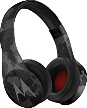 Motorola Pulse Escape + Wireless Over-Ear Headphones – Black Camo, 2.1