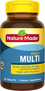 Nature Made Men's Multivitamin Tablets, 90 Count for Daily Nutritional Support (Packaging May Vary)