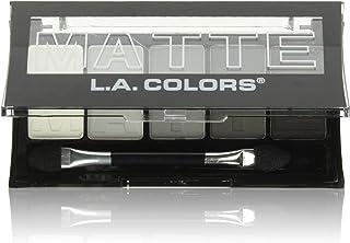 L.A. COLORS 5 Color Matte Eyeshadow, Black Lace, 0.08 Ounce