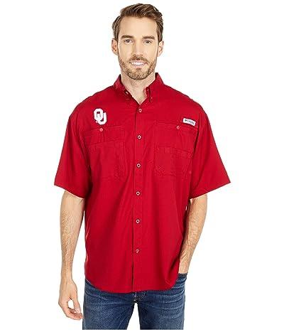 Columbia College Oklahoma Sooners Tamiami Short Sleeve Shirt (Red Velvet) Men