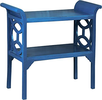 Sunset Trading Shabby Chic Cottage Table and Console, Salty dog, Blue