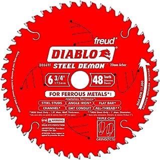 Freud Diablo D0649F 6-3/4-Inch 48-Tooth Steel Demon TCG Ferrous Cutting Circular Saw Blade with 21-mm Arbor