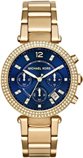 Michael Kors Womens Quartz Watch, Chronograph Display and Stainless Steel Strap MK6262