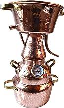 Dr. Richter® Alquitara aus Kupfer 2 Liter mit Thermometer - Modell mit 3 Sieben - Destille (anmeldefrei)