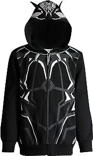 Avengers Black Panther Boys' Zip-Up Costume Hoodie