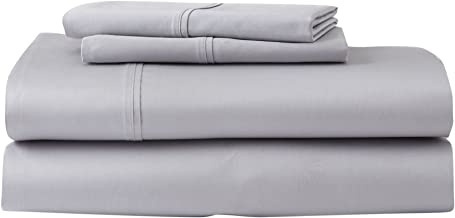 product image for GhostBed King Premium Supima Cotton and Tencel Luxury Soft Sheet Set, Grey, 6 Piece