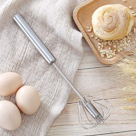 泡立て器 半自動回転 圧力ロータリー 軽く押すだけでかくはん ステンレス製 卵 クリーム バター 台所用品 料理ツール ケーキ道具 製菓道具 (L)