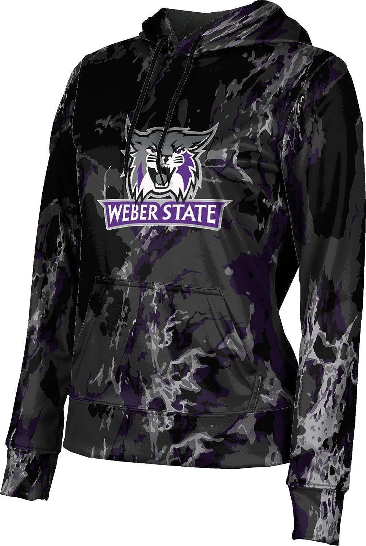 Weber State University Girls' Pullover Hoodie, School Spirit Sweatshirt (Marble)
