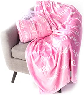Blankiegram Hugs Blanket The Perfect Caring Gift (Pink)