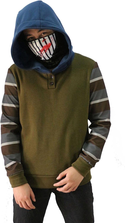 Halloween Cosplay Creepy Ticci Toby Hoodie Mens Thicken Sweater