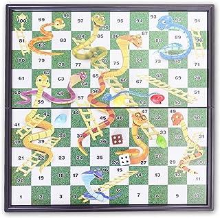 Puebloen 蛇と梯子ボードゲーム ミニゲーム すごろく 磁気 おもちゃ