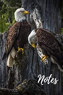 Bald Eagle Journal: beautiful bald eagles gift for animal lovers (blank lined notebook) great for writing notes and ideas for home use or a school ... / notepad / Ideal for anyone that loves birds