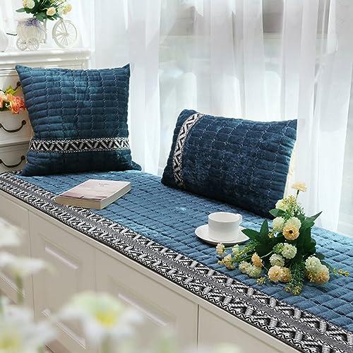 QY&LA Dicke Floating Window mat, Plüsch Anti-rutsch Window mat, Balkontür Tatami Kissen Sofa-sitzpolster-D 90x240cm(35x94inch)