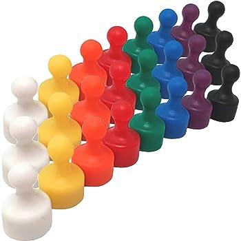 60x Magnetpins bunt Neodym Kegelmagnet für Magnettafel Kühlschrank Pinnwand Set