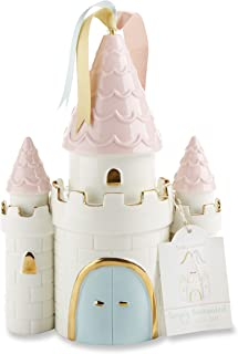 Baby Aspen Simply Enchanted Ceramic Porcelain Princess Castle Piggy Bank Room Decor & Gift, Multicolored