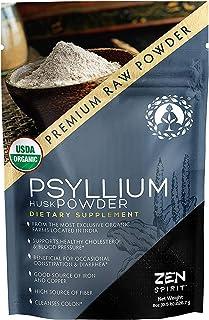 Organic Psyllium Husk Powder Fiber - Perfect for Keto Baking Flour & Cooking - Non-GMO Dietary Fiber (8oz)