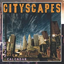 CITYSCAPES Calendar 2022: Twelve Months Full of skyscrapers Images, 8.5x8.5 inc Glossy Paper