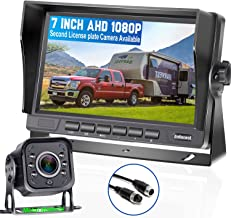 DoHonest V22 AHD 1080P RV Backup Camera 7'' LCD Monitor Driving High-Speed Rear View Observation Plug and Play System for ...
