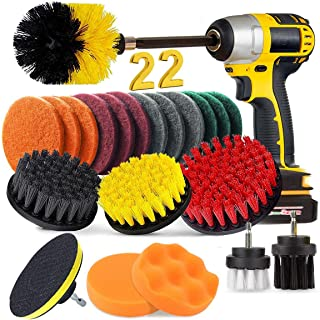 BRITOR 22 Piece Drill Brush Attachment Set, Power Scrubber Drill Brush set, Scrub Brush With Extend Long Attachment, Drill...