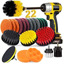 BRITOR 22 Piece Drill Brush Attachment Set, Power Scrubber Drill Brush set, Scrub Brush With Extend Long Attachment, Drill...