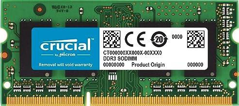 Crucial 8GB Single DDR3/DDR3L 1600 MT/S (PC3-12800) Unbuffered SODIMM 204-Pin Memory..