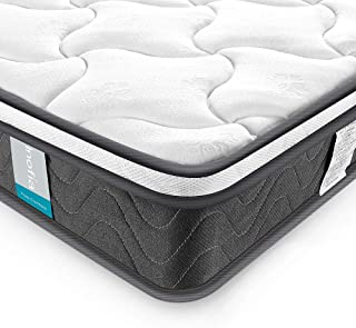 Inofia Queen Mattress, Super Comfort Hybrid Innerspring Double Mattress with Dual-Layered Breathable Cool Cover, 8''
