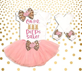 Baby Girl Clothes Oh for Peeps Sake! Easter Tutu Set, First Easter Outfit, Baby Girl Easter Tutu Set, Easter Bunny Tutu Set, Easter Outfity Tutu Set