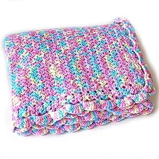 Small Crochet Rainbow Baby Blanket