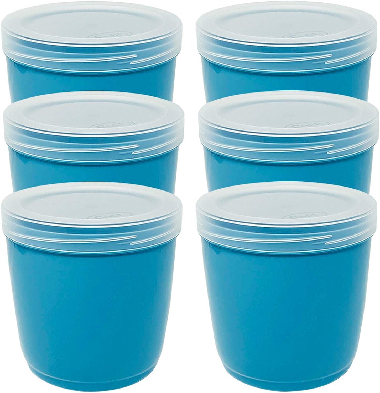 r/écipients r/éutilisables 1 l rose Codil Lot de 6 bo/îtes de rangement bol r/écipients de cuisine pour congeler et conserver des aliments frais r/écipients en plastique