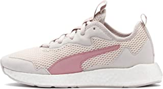 Puma NRGY Nylon Mesh Suede Accent Side Stripe Running Shoes for Women - Pastel, 37.5