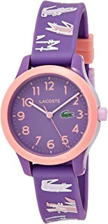 Lacoste Girls Quartz Watch, Analog Display and Silicone Strap 2030020