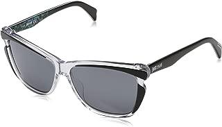 JC738S 27C Clear/Black Rectangular Sunglasses for Womens