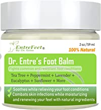 Dr. Entre's Foot Balm: Organic Antifungal Relief for Dry Feet, Calluses, Athletes Foot, Toenail Fungus, Odor, and More - Essential Oil Based Cream - Foot Care E-Book Included